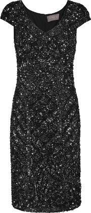 Theia , Sequined Tulle Dress