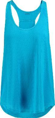 Yummie By Heather Thomson , Nadia Ribbed Knit Top Azure