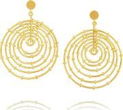Arme De Lamour , Arme De L'amour Bamboo Gold Plated Hoop Earrings