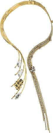 Erickson Beamon , Heart Of Gold Gold Plated Swarovski Crystal Necklace