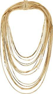 Rosantica , Gold Plated And Faux Pearl Necklace