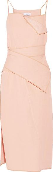 Narciso Rodriguez , Silk And Linen Blend Dress Blush