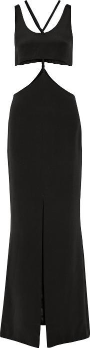 Cushnie Et Ochs , Cutout Silk Gown Black