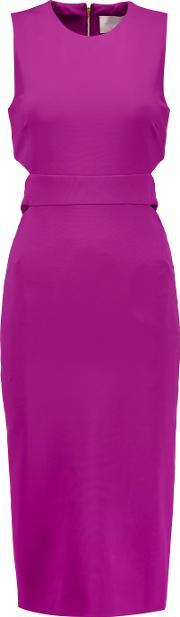 Cushnie Et Ochs , Cutout Stretch Twill Midi Dress Violet
