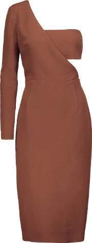 Cushnie Et Ochs , One Shoulder Stretch Cady Dress Light Brown