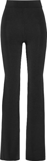 Cushnie Et Ochs , Stretch Ponte Flared Pants Black