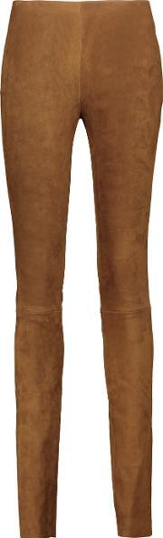 Cushnie Et Ochs , Suede Leggings Brown
