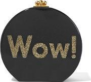Edie Parker , Oscar Wow Glittered Acrylic Clutch Black