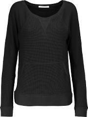 Yummie By Heather Thomson , Stretch Cotton And Modal Blend Sweater Black