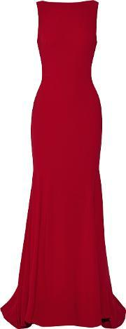Theia , Crepe Gown Claret