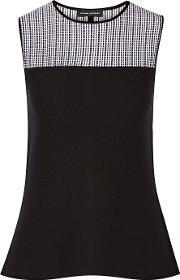 Narciso Rodriguez , Stretch Wool Blend Top Black