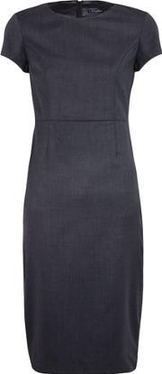 T M Lewin , Grey Tailored Wool Dress