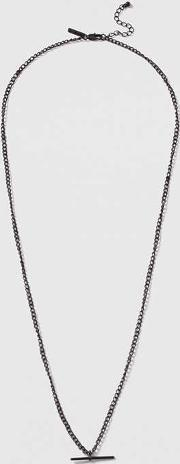 Topshop , Womens T Bar Chain Necklace
