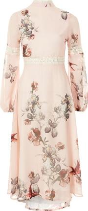 Hope And Ivy , Womens Bell Sleeve Printed Dress By Hope & Ivy