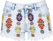 Topshop , Womens Embroidered Shorts By Glamorous