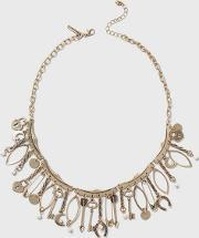 Topshop , Womens Charm Collar Necklace