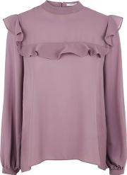 Glamorous , Womens Frilled Sheer Blouse By
