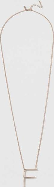 Topshop , Womens 'f' Initial Pendant Necklace