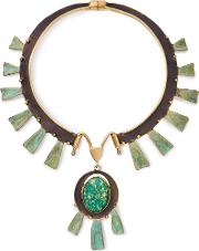 Tory Burch , Oxidized Metal Statement Collar Necklace
