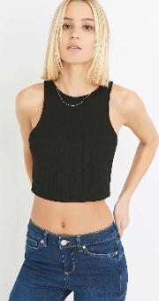 Sparkle & Fade , Ribbed Cropped Tank Top