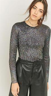 Sparkle & Fade , Metallic Ribbed Knit Jumper