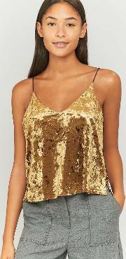 Pins & Needles , Gold Velvet Double Layer Cami