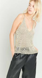 Sparkle & Fade , Chainmail V Neck Tank Top