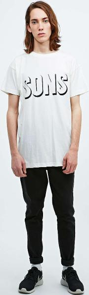 Sons , Shadow Tee In Ivory Ivory
