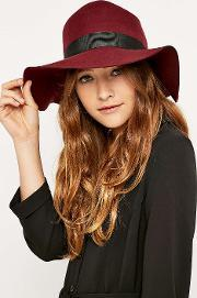 Christys London , Kathy Wide Brim Fedora, Maroon