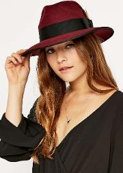Christys London , Madison Trilby Hat, Maroon