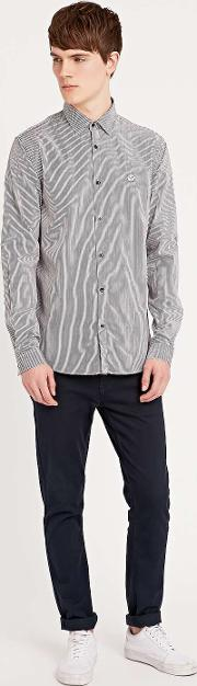 Hope , Roy Stripe Shirt In Black And White Black