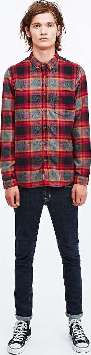 Shore Leave , Gretner Check Shirt In Red Red