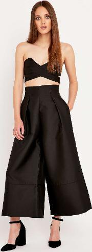 Solace , Evelyn Culottes In Black Black