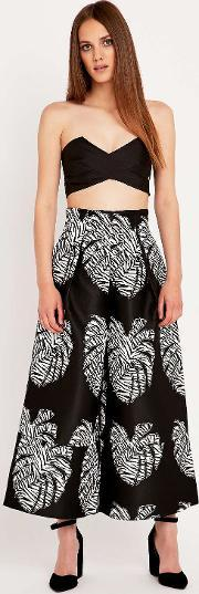 Solace , Florence Strapless Top In Black Black