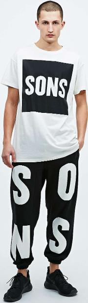 Sons , Loopback Typeface Joggers In Black Black