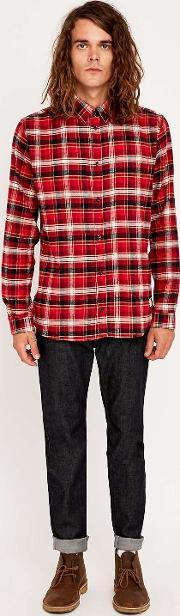 Suit , Poul Red Check Shirt Red