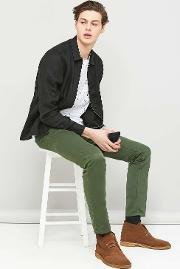 Velour , Forest Green Adan Chino Trousers