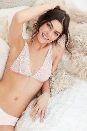 Out From Under , Angelica Lilac Lace Triangle Bra