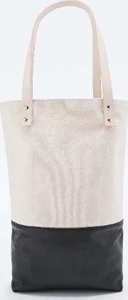 Flea Bags , X Uo Tote Bag In Ivory And Black Ivory