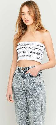 Pins & Needles , Contrast Ruched Cropped Tube Top