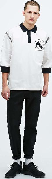 Sons , Drill Half Sleeve Polo Shirt In Ivory Ivory
