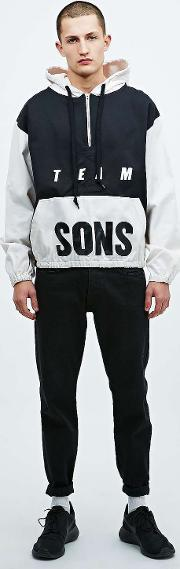Sons , Drill Training Hoodie In Black And Ivory Black