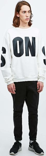 Sons , Loopback Typeface Sweatshirt In Ivory Ivory