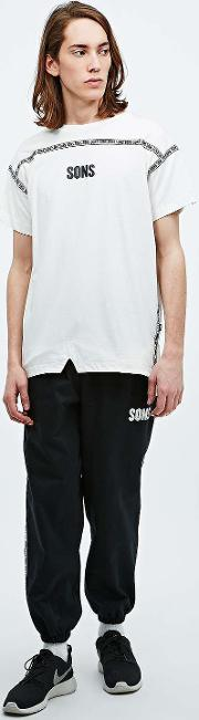 Sons , Split And Taped Tee In Ivory Ivory