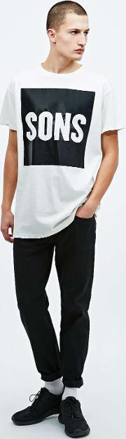 Sons , Square Tee In Ivory Ivory