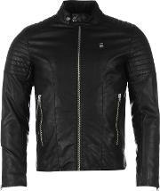 G Star , G Aviator Faux Leather Jacket