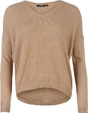 Golddigga , Fine V Neck Knitted Jumper Ladies