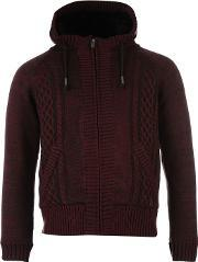 Firetrap , Faux Fur Lined Knitted Cardigan