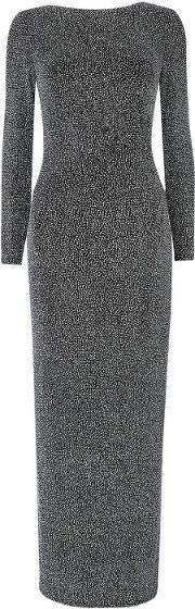 Wallis , Silver Sparkle Long Sleeve Dress