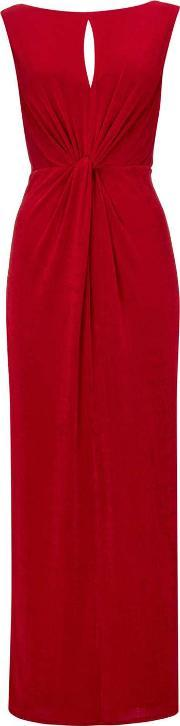 Wallis , Red Knot Detail Maxi Dress